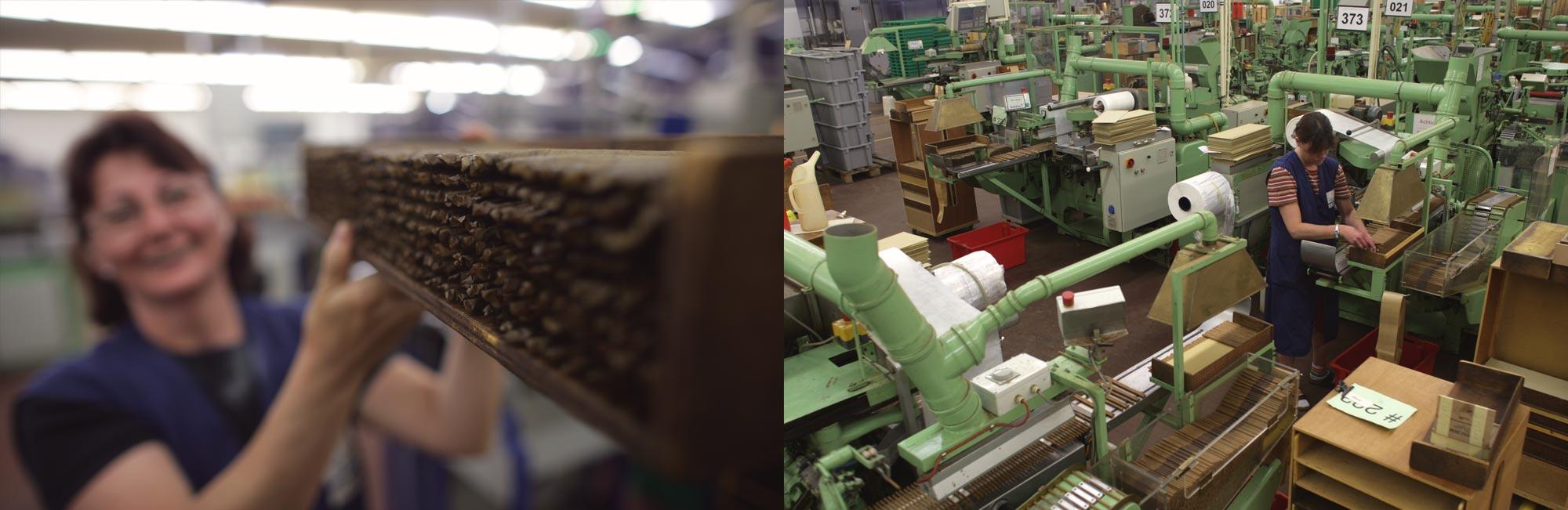 Zigarren-Produktion im Werk Königslutter